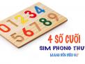 Bói 4 số cuối sim điện thoại đơn giản cùng KHOSIM24H