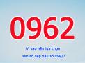 Giá trị mà đầu số 0962 mang lại cho người dùng là gì?