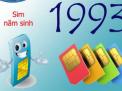 Sim năm sinh 1993 - Hợp với số nào và khắc với số nào?
